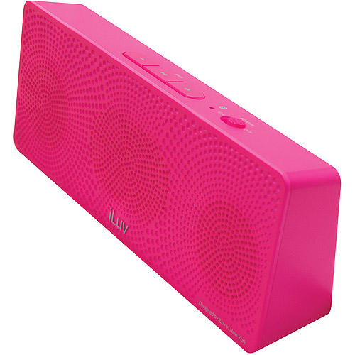 iLuv ISP202PNKN MobiTour Portable Bluetooth Wireless Stereo Speaker, Pink