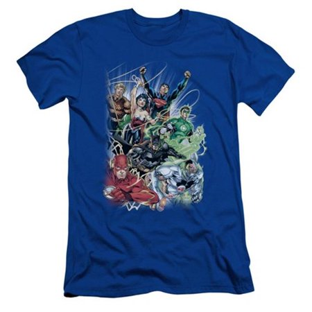 Jla-Justice League No.1 - Short Sleeve Adult 30-1 Tee - Royal, Medium - image 1 de 1
