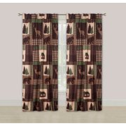 Rustic Cabin Window Curtains Panel Pair Drapes Lodge Deer and Bear 84""