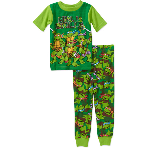 Teenage Mutant Ninja Turtles Baby Toddler Boy Button Down Pajama Sleepwear Set