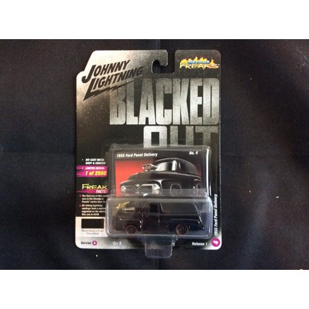 Johnny Lightning Street - Johnny Lightning 1:64 Street Freaks Ver A 1955 Ford Panel Delivery Gloss Black