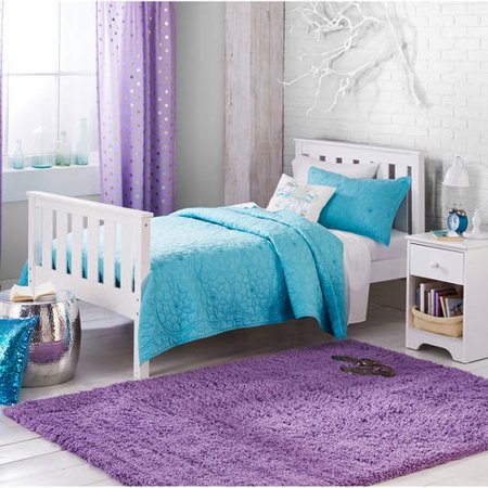 Kids solid bedding quilt set better homes and gardens full queen bleached teal ebay for Better homes and gardens quilt