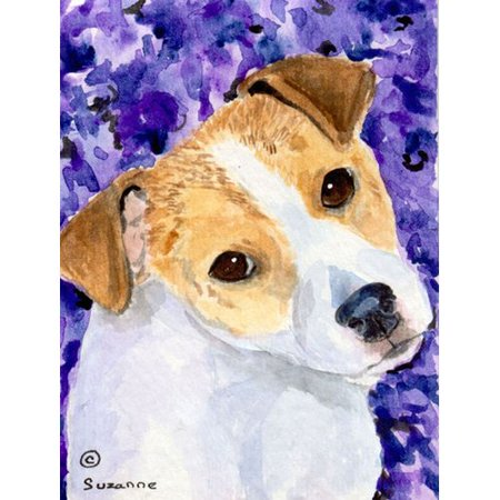 Caroline's Treasures Jack Russell Terrier 2-Sided Garden Flag