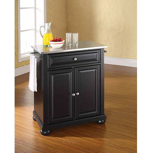 Crosley Furniture Alexandria Stainless Steel Top Portable Kitchen Island