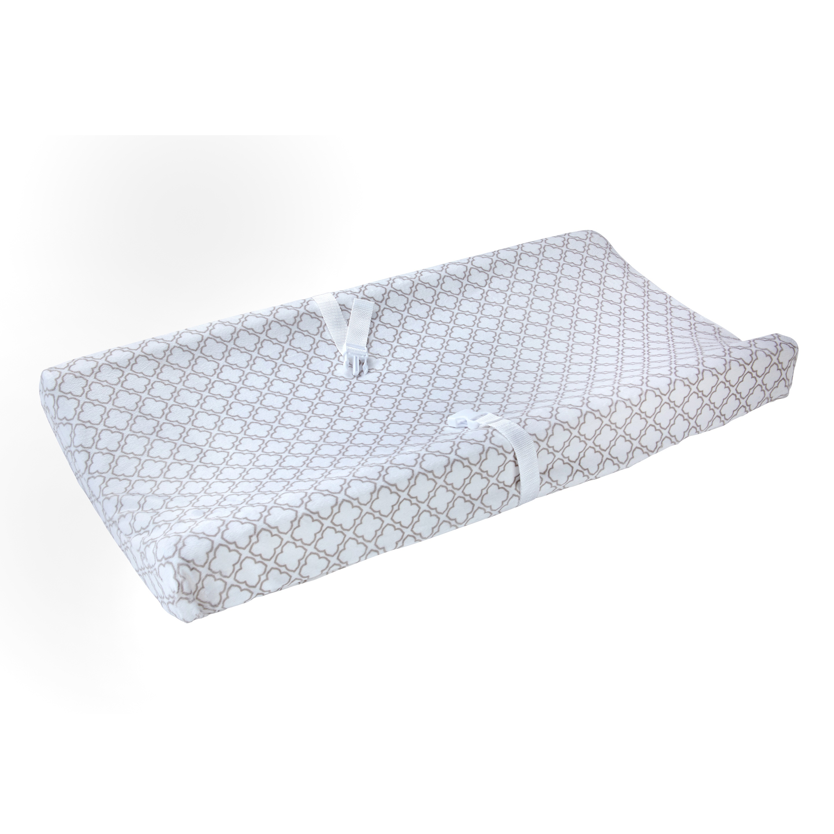 Carter's Changing Pad Cover Plush Velboa Grey Trellis by Carter%27s
