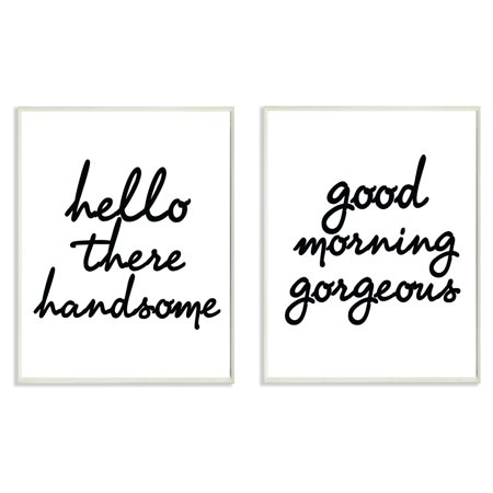 The Stupell Home Decor Collection 2 Piece His And Her Welcome Good Morning Wall Plaque