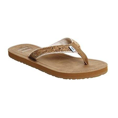 2c10f2ae3d8757 TOMS - TOMS Women s Solana Flip Flop Cork Glitz Sandal 5 B (M) - Walmart.com