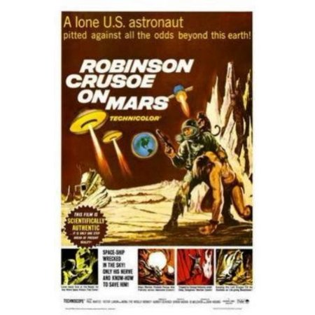 Robinson Mini - Robinson Crusoe On Mars Movie Poster 11x17 Mini Poster Entertainment decor