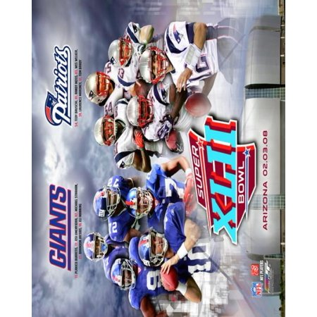 Super Bowl XLII Giants vs Patriots Matchup Composite Photo (Super Bowl Giants Vs Patriots 2007 Highlights)