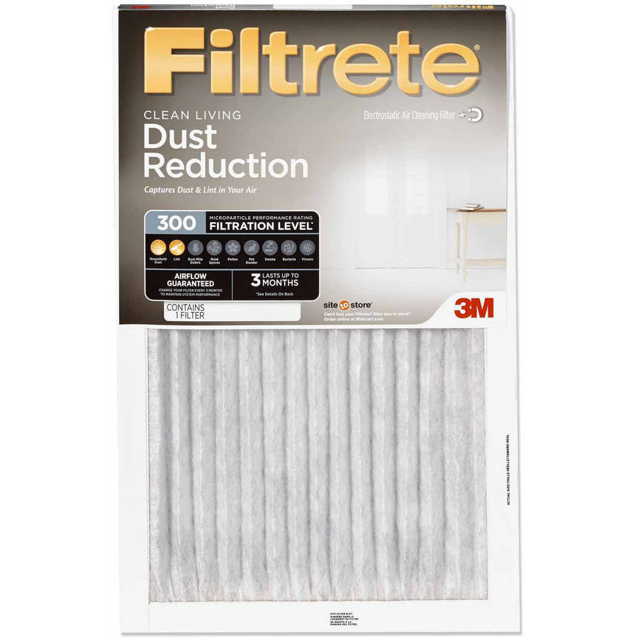 Filtrete Clean Living Dust Reduction Air and Furnace Filter, 300 MPR, 10x20x1, 1 Filter