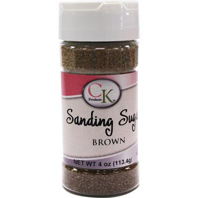 Brown Sanding Sugar 4 Oz. For Decorating Cookies, Cupcakes, Cake Pops,Cakes, Baked - Decorating Cakes
