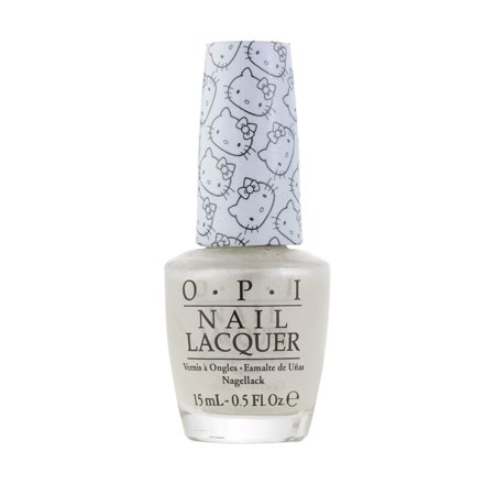 OPI Nail Lacquer, OPI Hello Kitty Collection, 0.5 Fluid Ounce - Kitty White H80 ()
