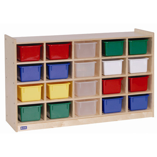 20-Tray Cubby Storage in Brown