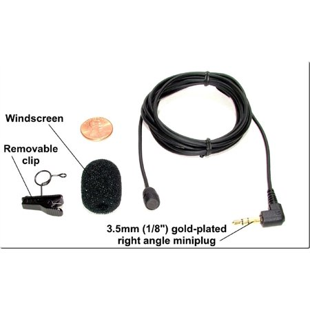 SP-LAV-22-12818 - Sound Professionals  - High sensitivity Cardioid lapel microphone, one meter cable, windscreen and clip. Wired dual mono for stereo recorders, computers and steno