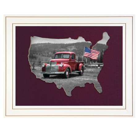 """""""American Made II"""" by Lori Deiter, Ready To Hang 3D Framed Print, White Frame - image 1 de 1"""