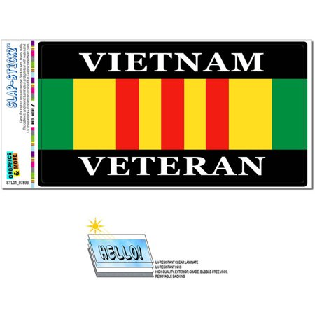 Vietnam Veteran Ribbon Automotive Car Window Locker Bumper Sticker