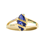 Personalized Family Jewelry Women's Glamour Fashion Class Ring available in Valadium, Silver Plus, Yellow and White Gold