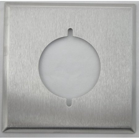 Classic Accents Brushed Satin Stainless Steel 2 Gang Wall Plate - 1 Single Dryer Receptical Dryer Wall Plate