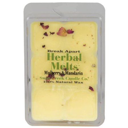 Swan Creek Candle Drizzle Mulberry & Mandarin Scented Wax Melt (White Drizzle)