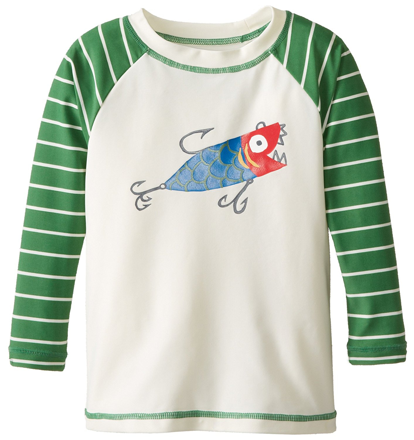 Hatley Little Boys' Fishing Lures Rash Guard