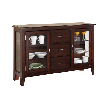 54 Inch Dining Buffet - Winners Only 54 in. Sideboard with Glass Doors