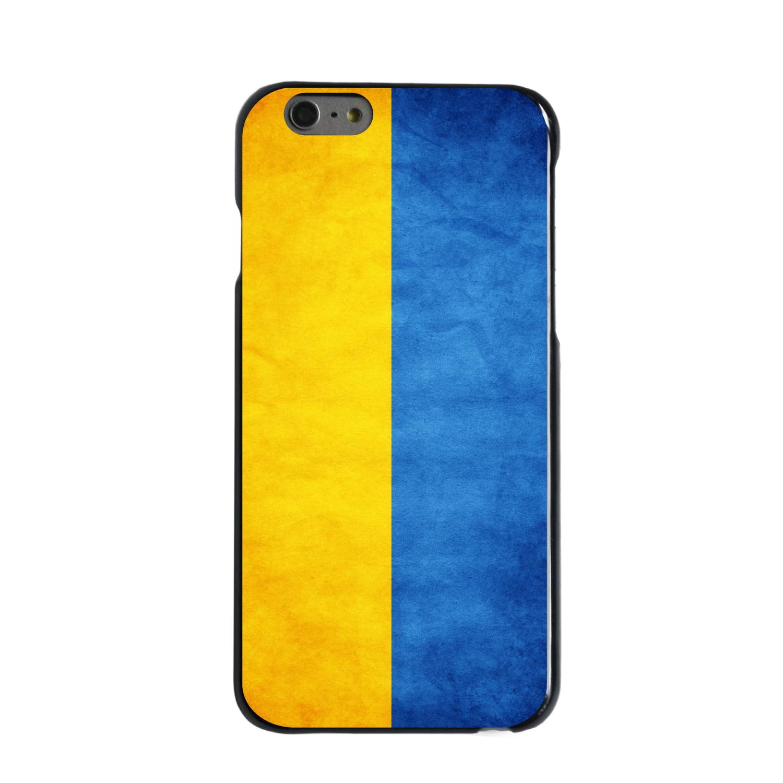 "CUSTOM Black Hard Plastic Snap-On Case for Apple iPhone 6 PLUS / 6S PLUS (5.5"" Screen) - Ukraine Old Flag"