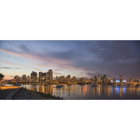 - Panoramic Of Sunset Over False Creek And City SkylineVancouver British Columbia Canada Rolled Canvas Art - Robert Postma  Design Pics (8 x 10)