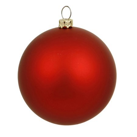 matte red indooroutdoor shatterproof christmas ball ornament 4 100mm