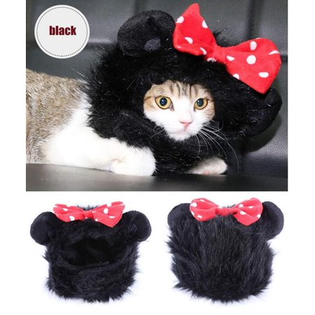Pet Costume Lion Mane Wig with Ears for Dog Cat (Black) - Lion Costume For Cats