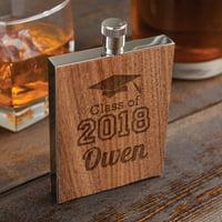 Graduation Year Personalized Wood Flask