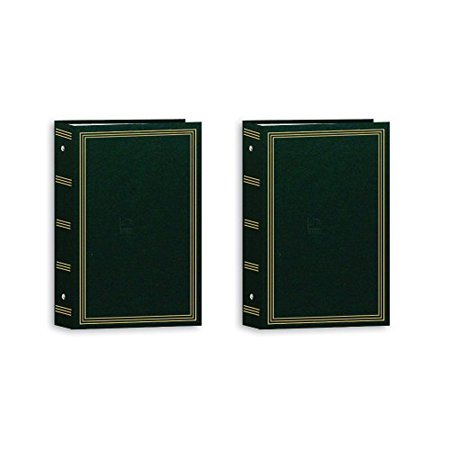 Pioneer Pocket 3 Ring Photo Album Hunter Green 2 Pack Walmartcom