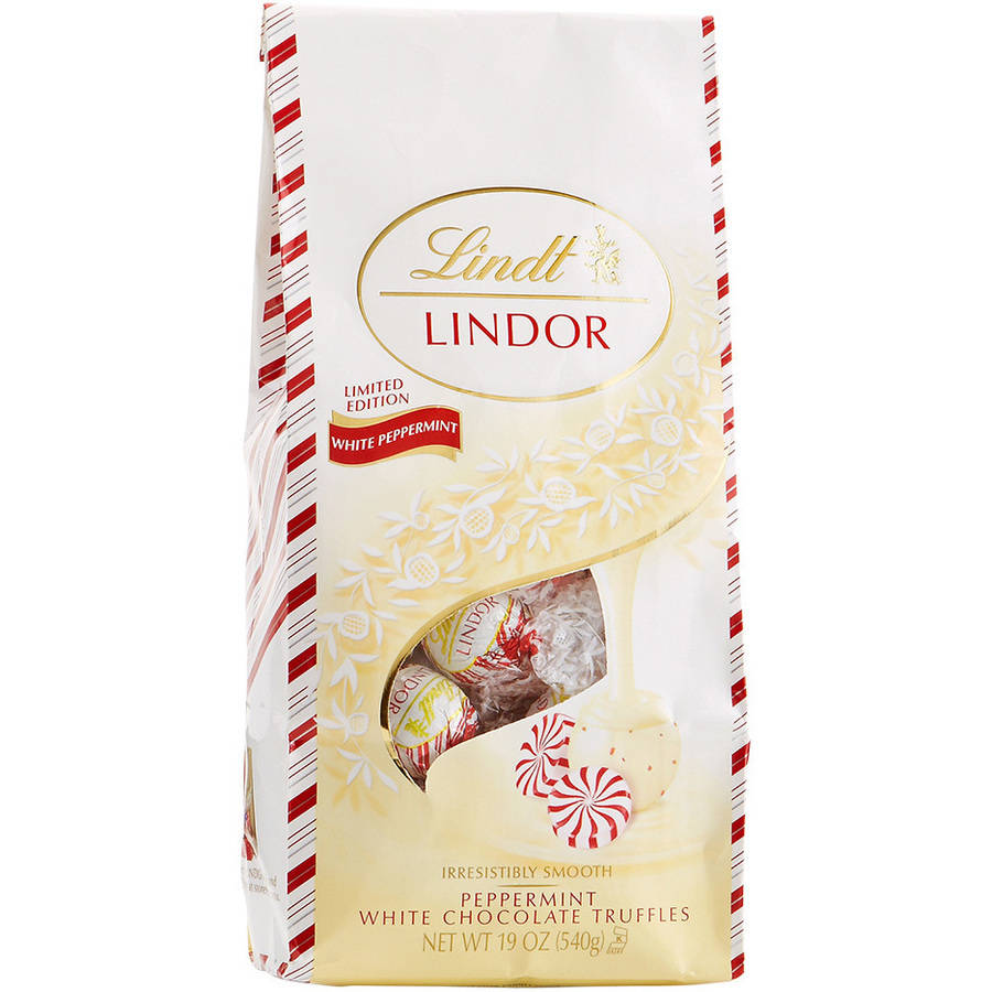 Lindor Peppermint White Chocolate Truffles, 19 oz by Lindt & Sprungli