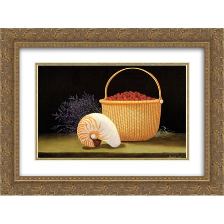 Nantucket Harvest - Nantucket Harvest 2x Matted 15x18 Gold Ornate Framed Art Print by Robert Duff