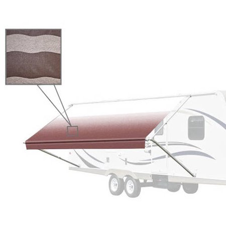 ALEKO 16' x 8' Vinyl RV Awning Fabric Replacement for Retractable Awning, Brown Striped