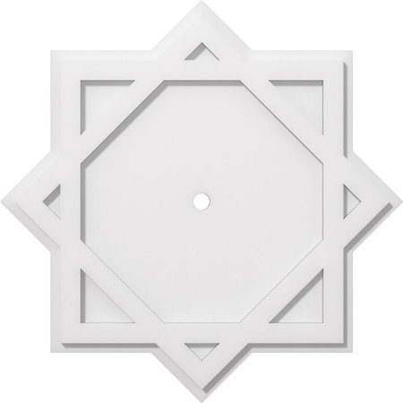 Ekena Millwork CMP24AL-01000 24 in. OD x 1 in. ID Square Axel Architectural Grade PVC Contemporary Ceiling Medallion - image 1 of 1