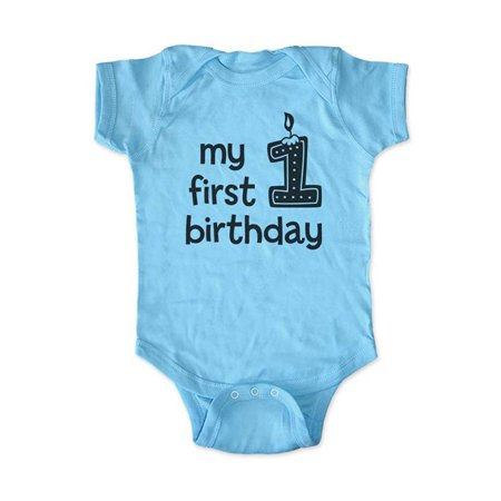 My first birthday - baby boy design - Baby one piece bodysuit - Great 1st Birthday Outfit! cute & funny wallsparks - 1st Halloween Onesie