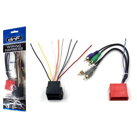 dnf wiring harness for aftermarket stereos and radios for select audi vw  vehicles (70-1787) - 100% copper wires! - walmart com