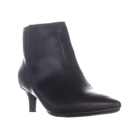 Womens naturalizer Giselle Kitten Heel Ankle Boots, Black Smooth, 6.5 US / 36.5 EU