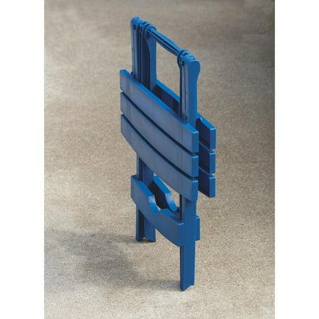 Adams Mfg 8500-36-3735 Quik-Fold Side Table, Resin, Patriotic Blue