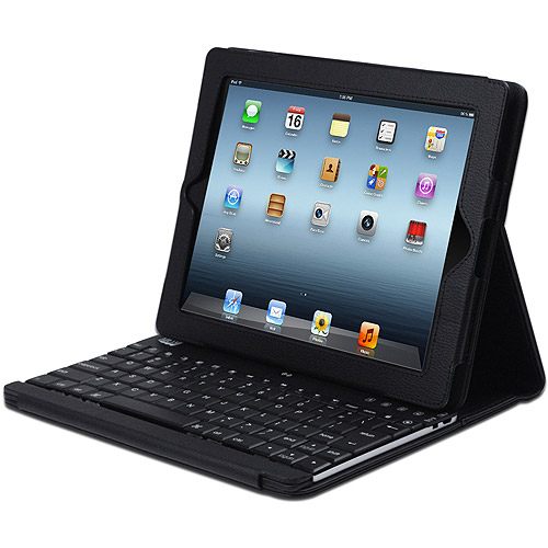 Adesso Compagno 3 Bluetooth Scissor-Switch Keyboard with Carrying Case for Apple iPad, Black