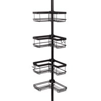 Better Homes & Gardens Contoured Tension Pole Shower Caddy, Oil-Rubbed Bronze