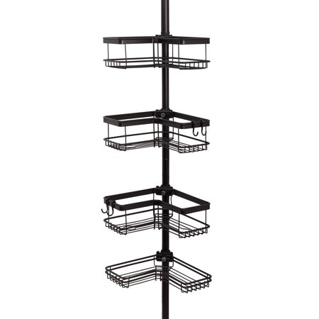Shower Shell - Better Homes & Gardens Contoured Tension Pole Shower Caddy, Oil-Rubbed Bronze