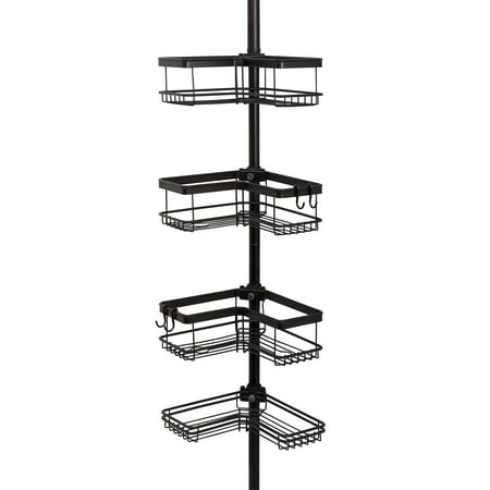 Family Shower Caddy (Better Homes & Gardens Contoured Tension Pole Shower Caddy, Oil-Rubbed Bronze )