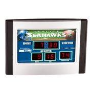 Evergreen Enterprises, Inc Seattle Seahawks Scoreboard Desk Clock