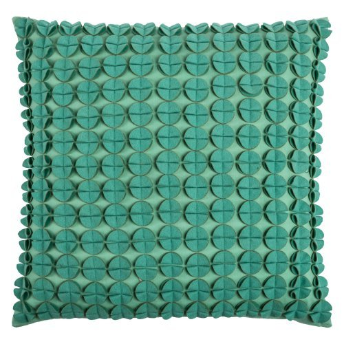 Rizzy Home Square Cotton and Felt Decorative Throw Pillow
