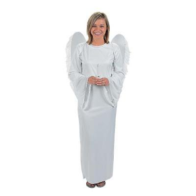 IN-4/48900 Angel Costume with Angel Wings and Candle for Adults  By Fun - Costumes With Wings