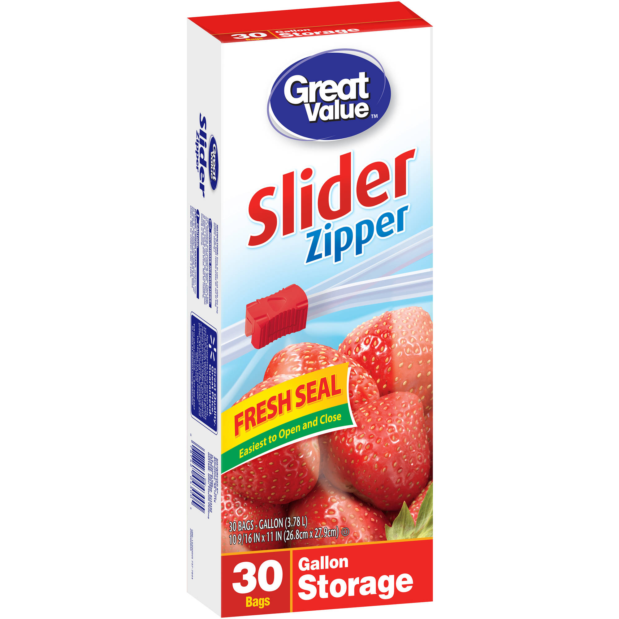 sc 1 st  Walmart & Glad Zipper Food Storage Plastic Bags - 1 gal - 40 ct - Walmart.com
