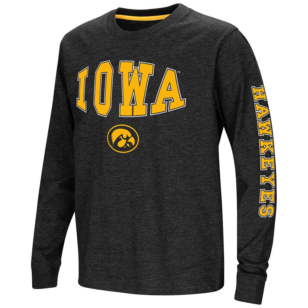 "Iowa Hawkeyes NCAA ""Touchdown"" Youth Dual Blend Long Sleeve T-Shirt"