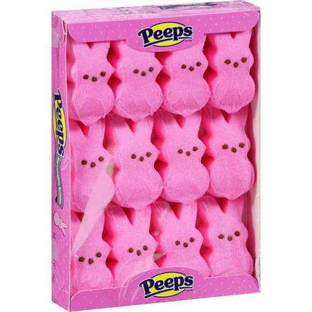 Peeps Pink Marshmallow Bunnies Easter Candy, 3.375 Oz.