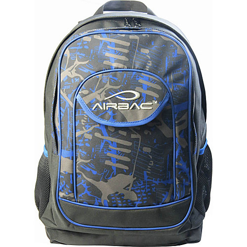 "Image of Airbac Groovy 17"" Laptop Backpack, Blue"